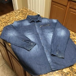 Sean John Denim Long Sleeve Shirt